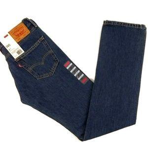 NWT Levi's 505 Men's Straight Fit Jeans Dark Denim
